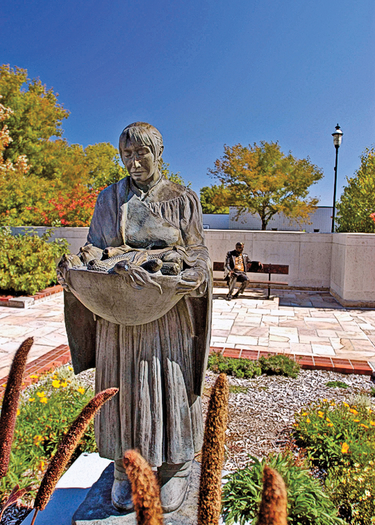 Stroll through Cliff Hillegass Sculpture Garden before touring the Museum of Nebraska Art in Kearney, housed in the 1911 post office building, to view one of the nation's best Great Plains art collections featuring works by George Catlin and John James Audubon. – Courtesy J. Nabb/Nebraska Tourism –