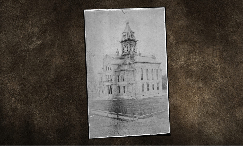 The Courthouse where the feud took place between the Jaybirds and Woodpeckers - Courtesy Fort Bend County Museum -
