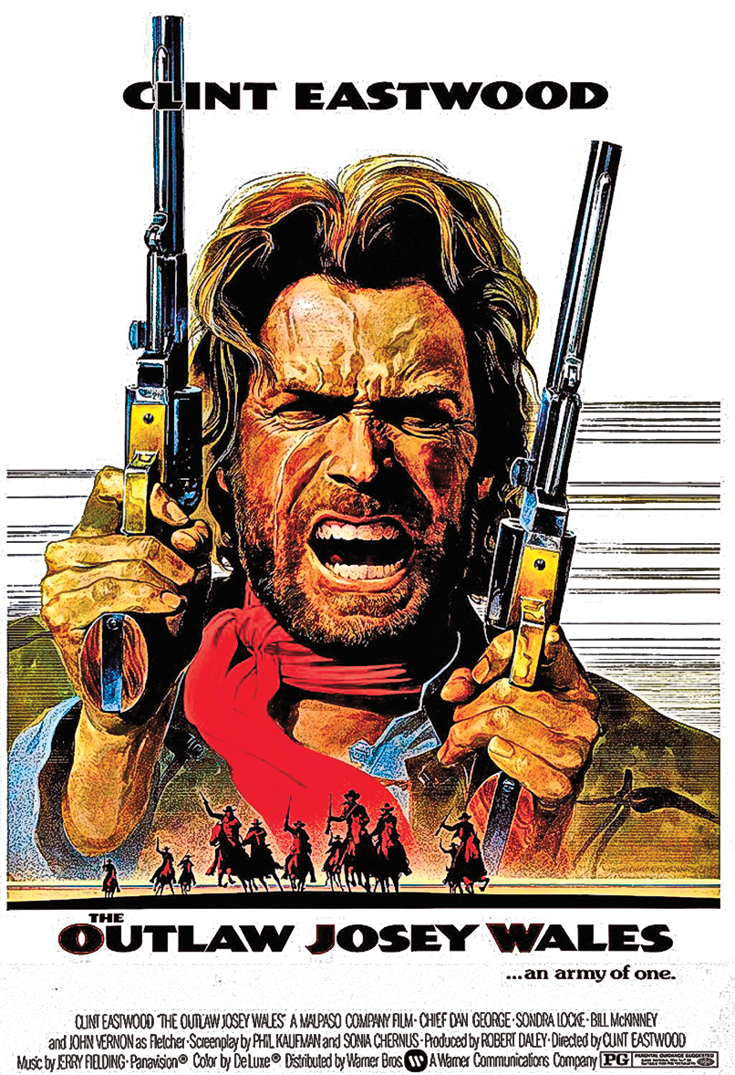 One of the best Clint Eastwood movies ever traces back to ugly roots. The Outlaw Josey Wales was based on a book written by a self-proclaimed Cherokee whose real life as a former Klansman became well known after his book, The Education of Little Tree, topped The New York Times' bestseller list in 1991. – All images courtesy Warner Bros. –