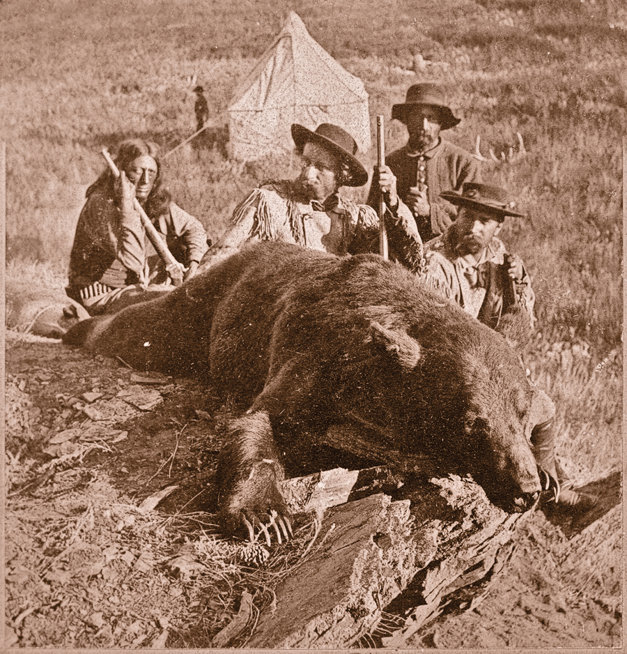 SF_10-Historical-Custer-Hunting-Historical-Our_First_Grizzly,_killed_by_Gen._Custer_and_Col._Ludlow