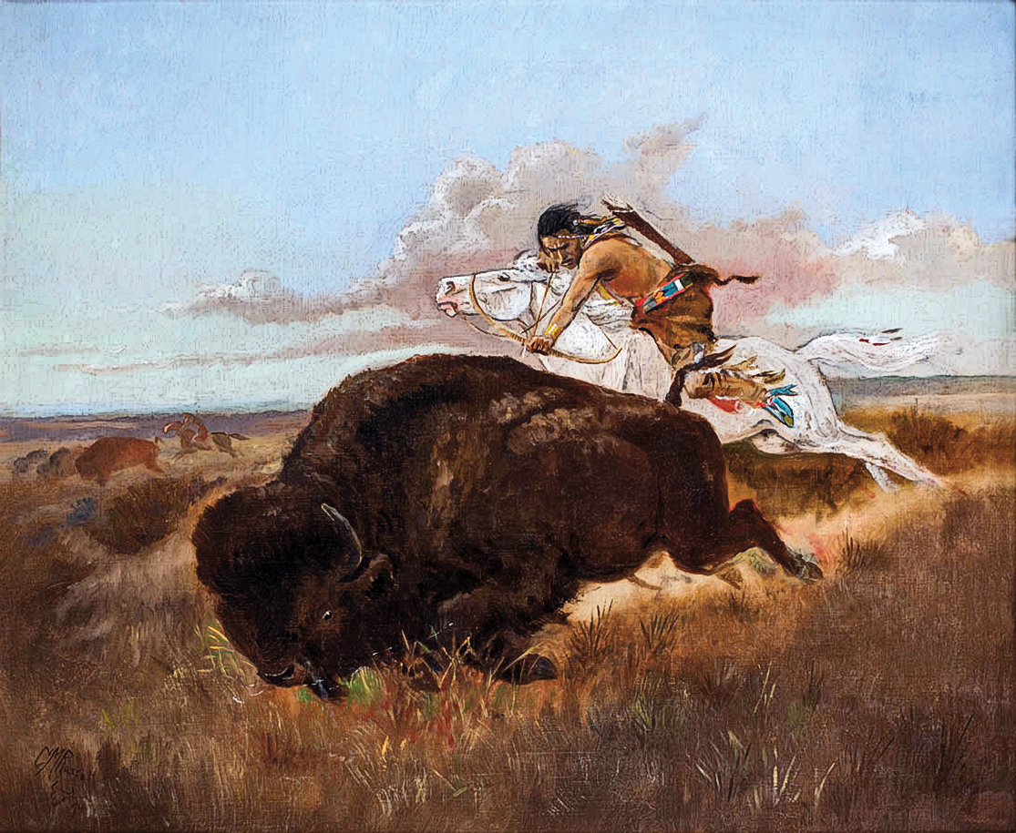 CTW_250-Buffalo-Hunting-(1894)-by-Charles-M.-Russell-(1864-1926)
