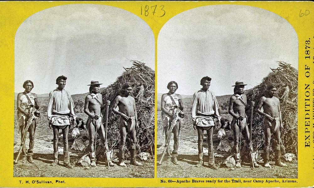 BOW-FA_Apache-braves-ready-for-the-trail,-near-Camp-Apache,-Arizona-by-Timothy-H.-OSullivan_1873