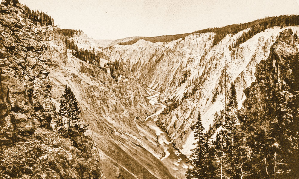 BOW_AC_A-late-afternoon-view-of-the-Grand-Canyon-of-the-Yellowstone,-as-seen-from-the-cliffs-on-the-North-Rim-above-the-brink-of-the-Lower-Falls--William-Henry-Jackson,-Plate-XXXIII_scaled