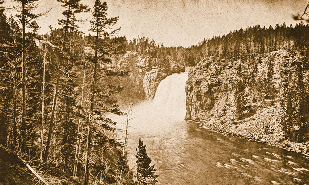 BOW_AC_A-view-of-the-Upper-Falls-of-the-Yellowstone,-from-the-south-rim-of-the-Canyon,-just-down-river-from-the-falls-William-Henry-Jackson,-Plate-XXX_scaled
