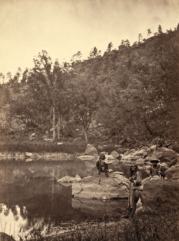 BOW_book_View-on-Apache-Lake,-Sierra-Blanca-Range,-Arizona.-Two-Apache-scouts-in-the-foreground--1873--T.-H