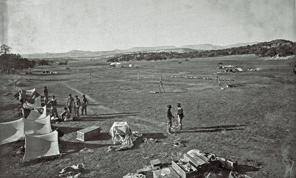 BOW_books_Wheeler's-surveys-west-of-the-100th-meridian_Survey-camp-near-Fort-Wingate-by-Timothy-H