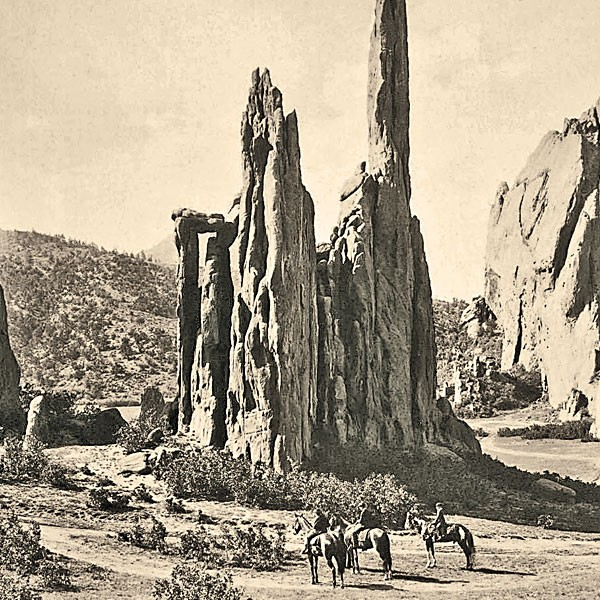 Hayden-Expedition_-Cathedral-Spires-may-be-first-photograph-ever-taken-of-the-Garden-of-the-Gods_scaled