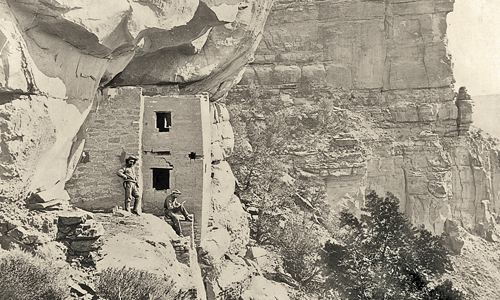 Hayden-Expedition_One of first photographs of ruins in and around Mesa Verde