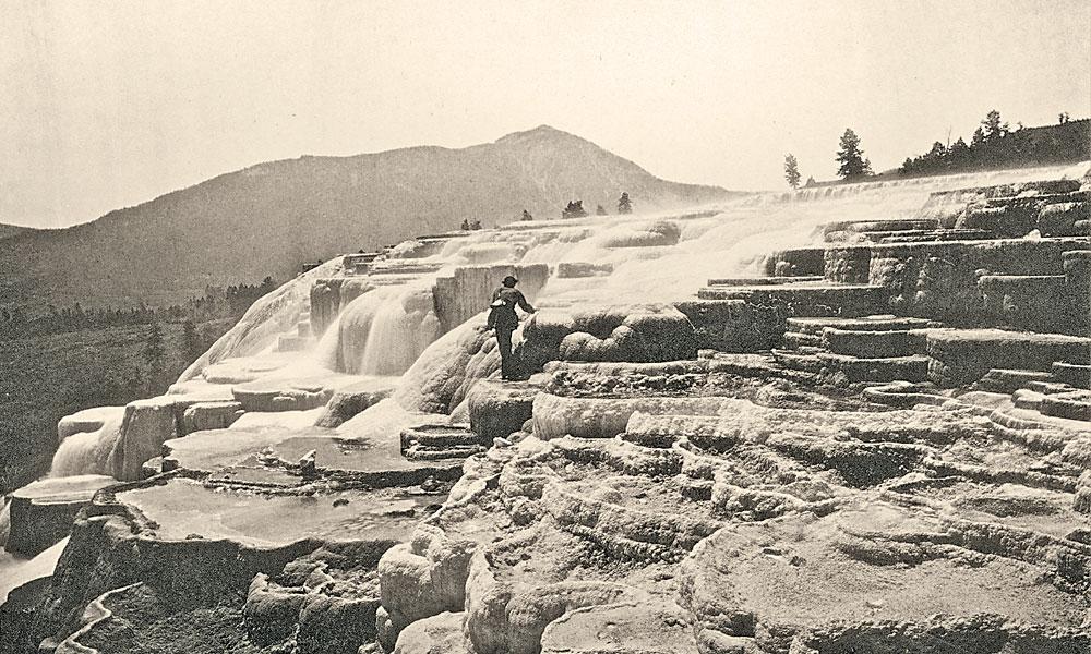 Hayden-Expedition_Thomas-Moran-on-Jupiter-Terrace-by-William-Henry-Jackson_1871