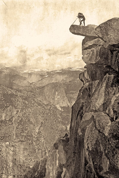 Hayden-Expedition_William-Henry-Jackson-on-Glacier-Point-in-Yosemite-National-Park