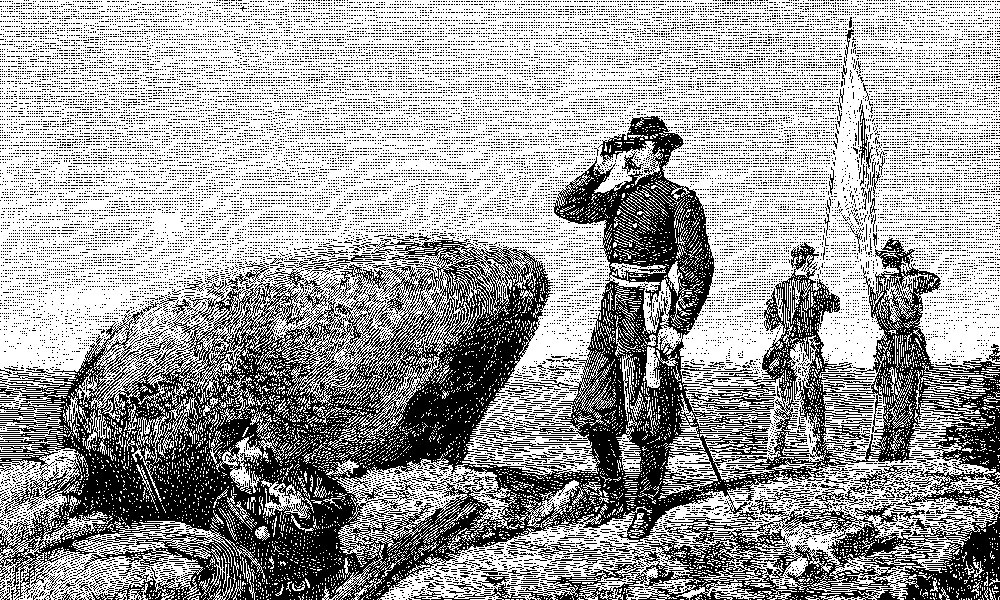 US_Second-day-at-Gettysburg-General-G.K.-Warren-at-the-signal-station-on-Little-Round-Top