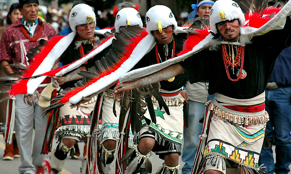 For 96 years the annual Inter-Tribal Indian Ceremonials, including dances, parades and a rodeo in Gallup, New Mexico, have honored American Indian heritage and cultural traditions from across North America. – Courtesy New Mexico Dept. of Tourism –