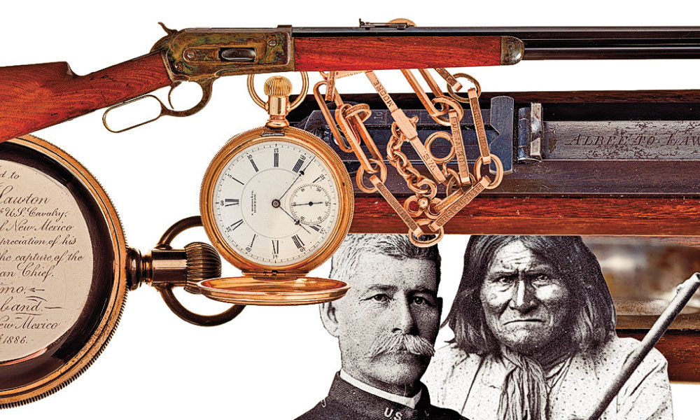CTW-This-Model-1886-Winchester-rifle,-presented-to-Henry-W.-Lawton-the-U.S.-Army-captain-who-helped-hunt-down-and-capture-famed-Apache-chief-Geronimo
