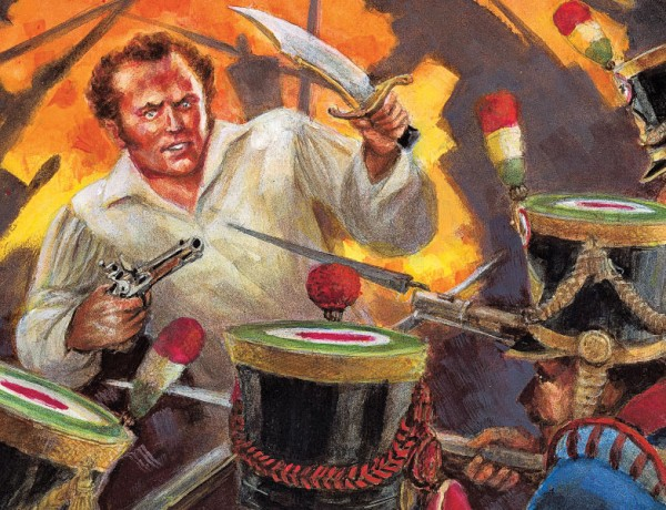 How Did James Bowie Really Die?  Did the famed Alamo defender go down as a gallant hero, fighting to the death, as illustrated here? Or should history remember him dying as a sick, feeble,  angry coward?  – Illustrated by Joseph Musso –