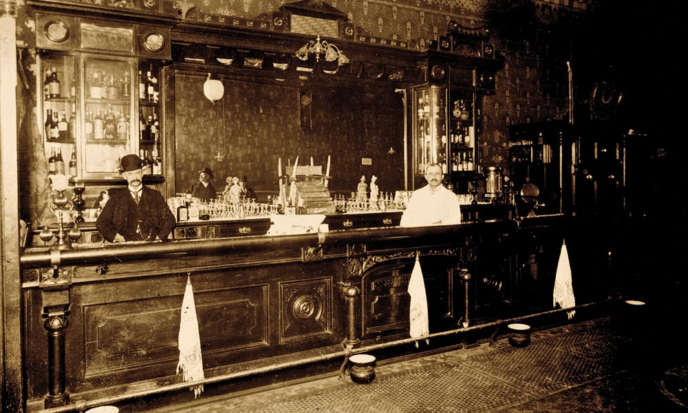 After Doc Holliday and Kate Elder settled into a boarding room near the gambling district of downtown Prescott in November 1879, the famous pair would have frequented Dan Thorne's Cabinet Saloon on Montezuma, possibly where the Georgia gambler went on his famous winning streak that kept him in the territorial capital while the Earps headed to Tombstone. – True West Archives –