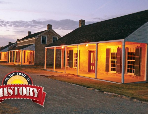 At twilight Fort Concho National Historic Landmark takes on a special magic. The 1870s Officers Row is especially evocative with its stately stone structures standing as silent sentinels of a bygone era.  – Rick Collins –