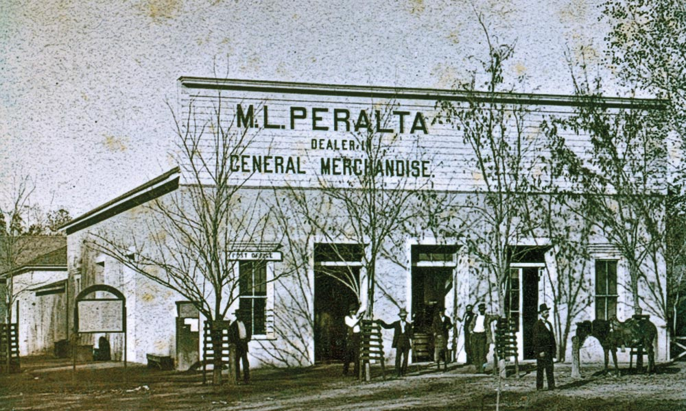 Doc Holliday did not join the Earps in Tombstone until September 1880. When he left Prescott, he likely rode the Southern Pacific Stage to Phoenix, which stopped at M.L. Peralta's store at Central Avenue and Washington Street, and possibly spent the night at the nearby Maricopa Hotel before catching the next stage south. – Courtesy New York Public Library –