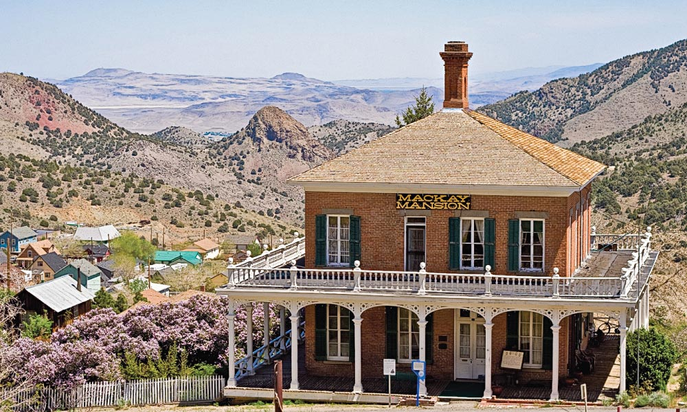 "The elegantly decorated Victorian-era Mackay Museum Mansion in Virginia City is open daily for tours. George Hearst built the home in 1859 and it served as the Gould and Curry mining offices until after the Great Fire of 1875, when John Mackay, ""The Big Boss of the Bonanza,"" bought it to use as his family's home."