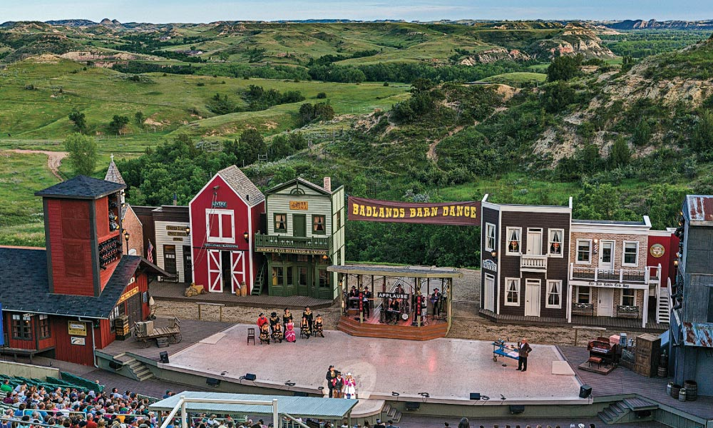 For 50 years, the Medora Musical has entertained audiences from the Burnt Hills Amphitheatre with a spectacular show dedicated to the legacy of President Theodore Roosevelt. – Chuck Haney, Courtesy Medora CVB –