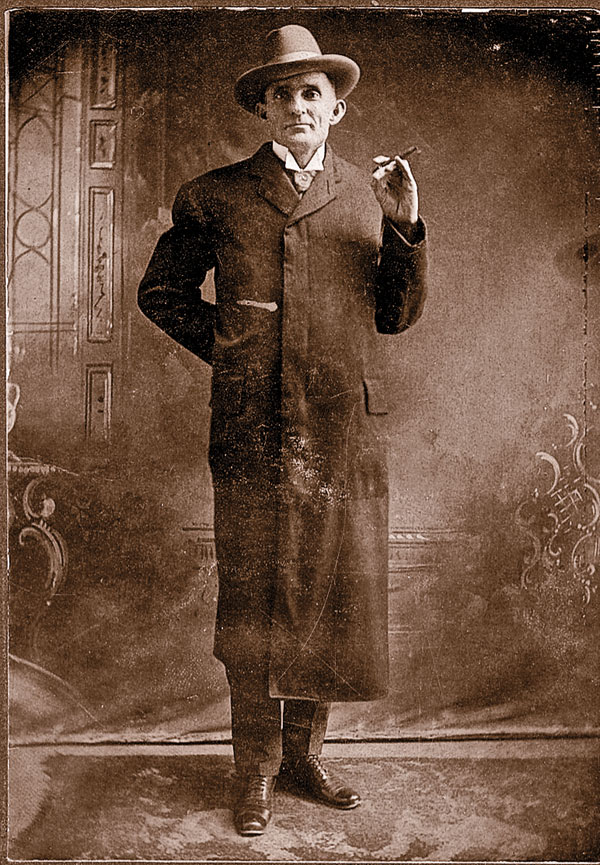 Jim Miller—dressed to kill. – Courtesy Robert G. McCubbin collection –
