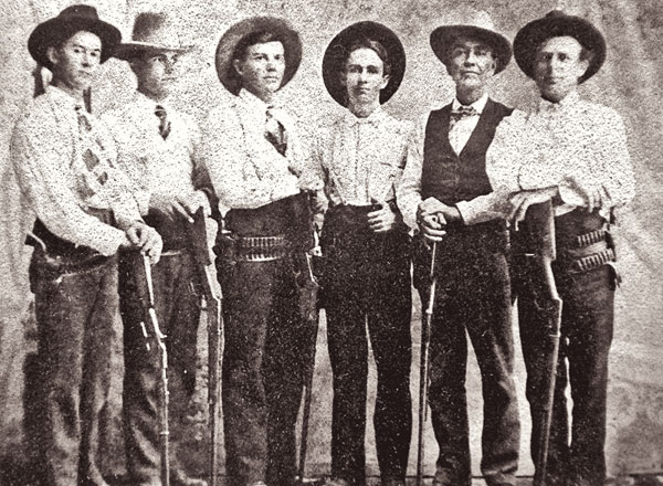 No Hope for Heaven, No Fear of Hell details the tragic history of the deadly feuds that plagued Colorado County, Texas, from 1871 to 1911, including the role of Walter Reese (center) and the Texas Rangers. – Courtesy Nesbitt Memorial Library Archives –